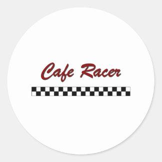 Corredor del café etiquetas redondas