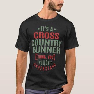 Corredor del campo a través camiseta