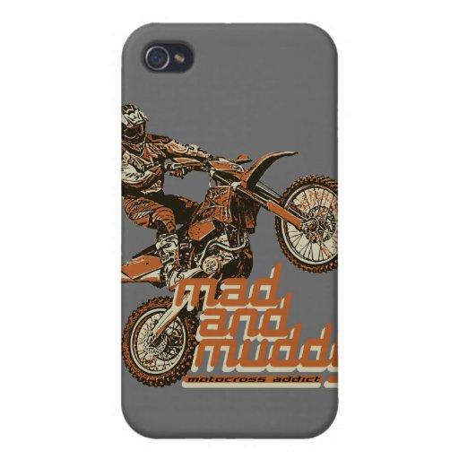 Corredor del motocrós iPhone 4/4S carcasas
