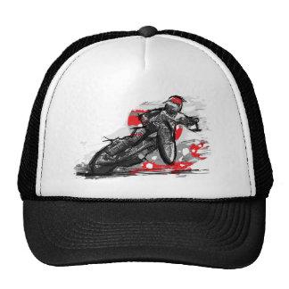 Corredor plano de la motocicleta de la pista del c gorros bordados