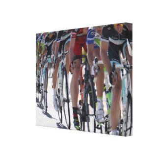 Corredores de la bicicleta impresión en lienzo