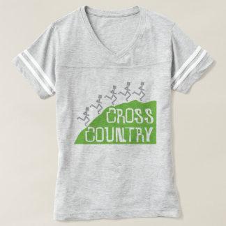 Corredores del campo a través en © de la colina camiseta