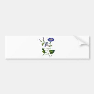 Correhuelas bordadas azul hermoso pegatina de parachoque