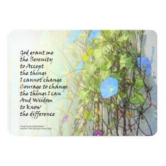 Correhuelas y cerca del rezo de la serenidad invitación 12,7 x 17,8 cm