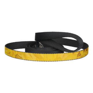 Correo amarillo del estampado de plores correa para perro