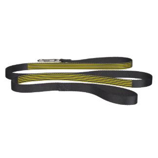 Correo negro y amarillo del mascota de las rayas correa para perro