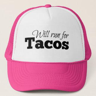 Correrá para el Tacos Gorra De Camionero