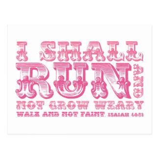 Correré y no creceré tipografía cansada postal