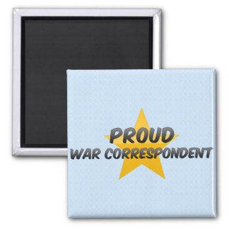 Correspondiente de guerra orgulloso imanes para frigoríficos
