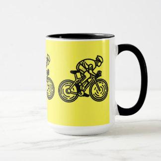 """""""Corriendo en taza fresca, amarillo-negra de una"""