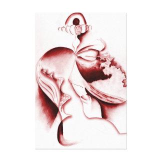 Corriente gritadora - impresión envuelta galería