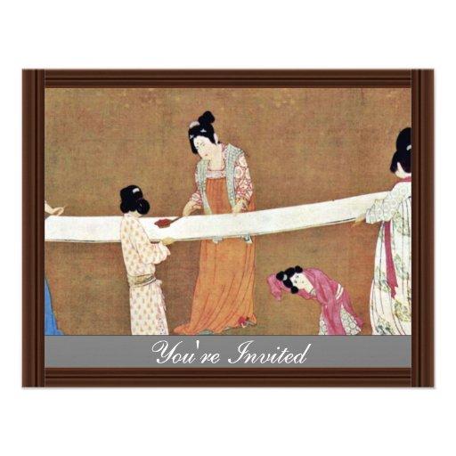 Corrija la nueva seda de las mujeres de Meister Na Invitaciones Personales