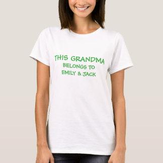 Corrija los nombres del grandkid en la abuela camiseta