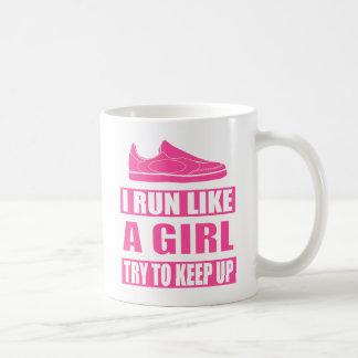 Corro como un chica taza de café