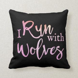 """""""Corro con almohada de tiro de los lobos"""""""