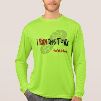 Corro esta ciudad - Deporte-Tek de encargo LS Camiseta