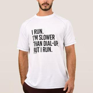 Corro más lento que terminal de marcado manual, camiseta