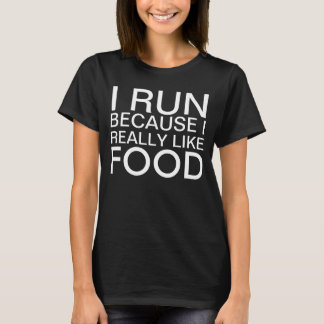 Corro porque tengo gusto realmente de decir de la camiseta