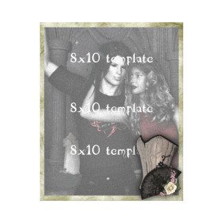 Corsé de Steampunk y boda del gótico de la fan Lienzo Envuelto Para Galerías