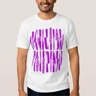 Cortado y cortado en cuadritos - púrpura camisetas