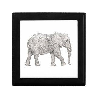 Corte del elefante joyero