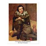 Corte Jester Juan De Calabazas By Diego Velázquez Postal