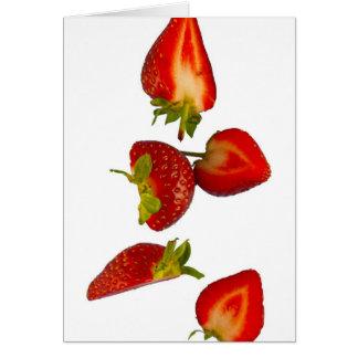 corte las fresas tarjeta