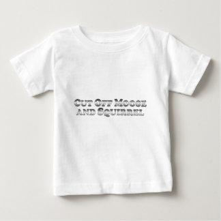 Corte los alces y la ardilla - básicos camiseta de bebé