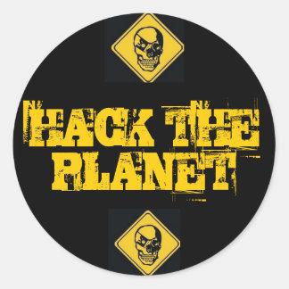 Corte los pegatinas del planeta pegatina redonda