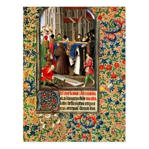 Cortejo fúnebre con los sepulcro-cavadores tarjetas postales