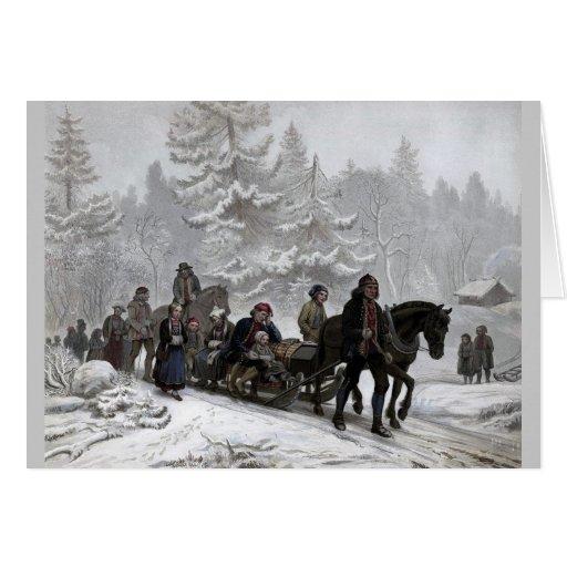 Cortejo fúnebre tarjetas