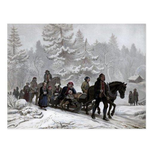 Cortejo fúnebre tarjeta postal