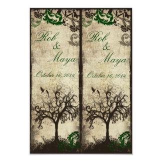 Córtese las señales del favor del boda invitación 8,9 x 12,7 cm