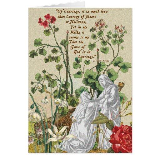 Cortesía de Hilaire Belloc de la tarjeta en blanco