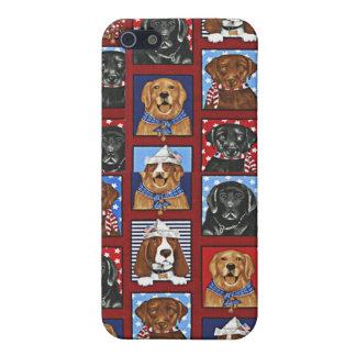 Corteza del mascota de 4 amantes del perro iPhone 5 cobertura