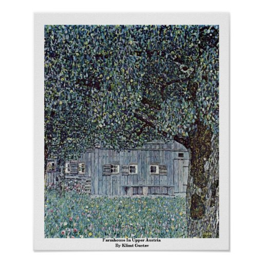 Cortijo en Austria septentrional de Klimt Gustavo Poster