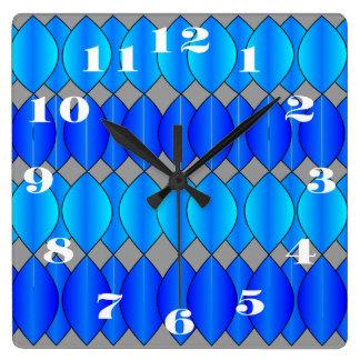 cortina azul reloj cuadrado