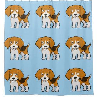 Cortina De Baño Beagle lindo