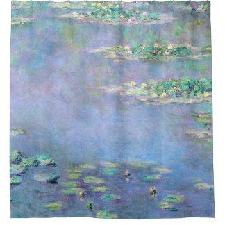 Cortina De Baño Bella arte de los lirios de agua de Monet Les