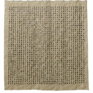 Cortina De Baño Búsqueda de la palabra: Encantos en el pergamino