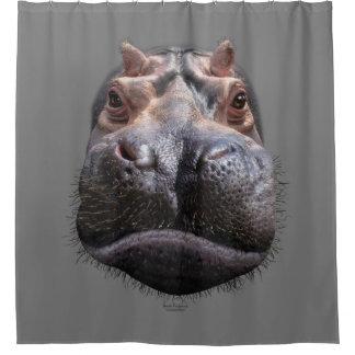 Cortina De Baño Cabeza del hipopótamo