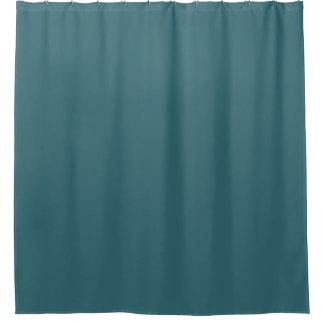 Cortina De Baño Color sólido del azul de pavo real (trullo oscuro
