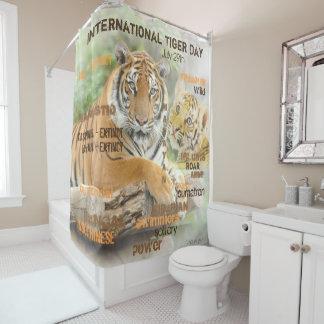 Cortina De Baño Día internacional del tigre, el 29 de julio, arte