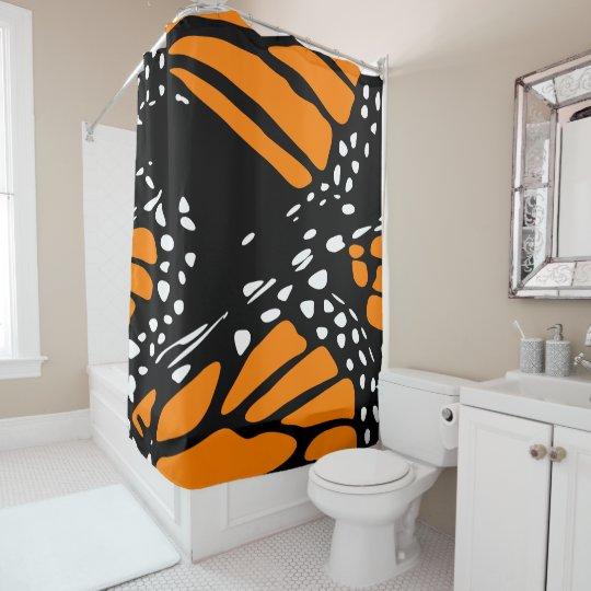 Cortina De Baño Diseño abstracto de una mariposa de monarca