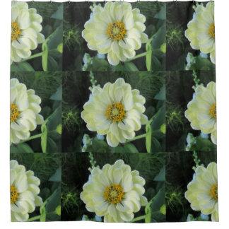 Cortina De Baño Flor amarilla clara de la dalia