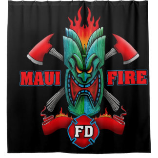 Cortina De Baño Fuego de Maui