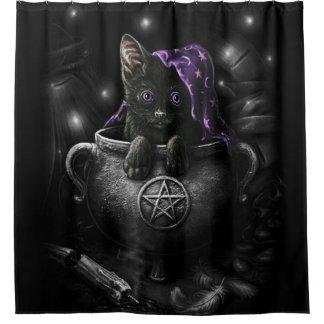Cortina De Baño Gatito negro de las brujas