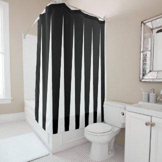Cortina De Baño Ilusión blanco y negro del plisado de dos tonos