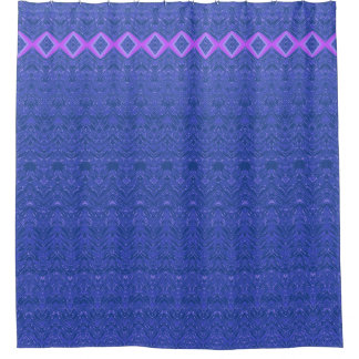 Cortina De Baño Modelo azul y púrpura del extracto del diamante