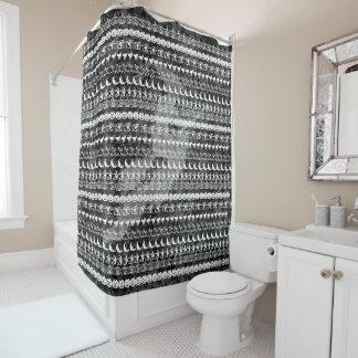 Cortina De Baño Modelo blanco/negro del arte de la fuente de la